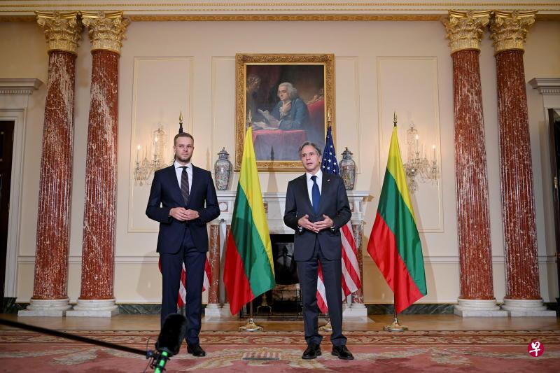 布林肯会见立陶宛外长 支持对抗北京打压